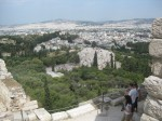 View of Mars Hill fom the Acropolis