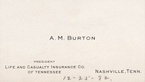 Burton Business Card