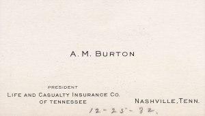 Burton Business Card