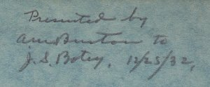 Gleanings Inscription